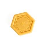 Jabón de barra de la miel Fotos de archivo libres de regalías