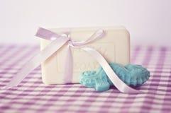 Jabón de la lavanda Imagenes de archivo