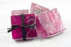 Jabón de la lavanda Foto de archivo libre de regalías