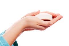Jabón de la mano Fotos de archivo
