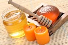 Jabón de la miel Fotografía de archivo