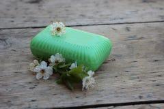 Jabón de retrete orgánico Fotos de archivo libres de regalías