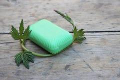 Jabón de retrete orgánico Imágenes de archivo libres de regalías