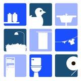 Jabón del lavabo del cuarto de baño del retrete del vector Fotos de archivo