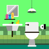 Jabón del lavabo del cuarto de baño del retrete del vector Imágenes de archivo libres de regalías