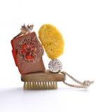 Jabón del shell de la esponja Imagenes de archivo