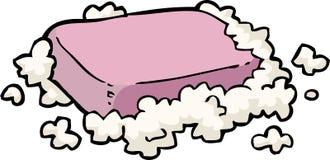 Jabón en espuma ilustración del vector