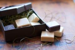 Jabón en rectángulo de regalo Imagen de archivo libre de regalías