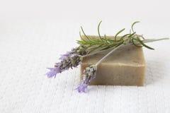 Jabón hecho en casa Imagen de archivo libre de regalías