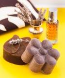 Jabón hecho en casa Foto de archivo libre de regalías
