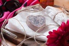Jabón hecho en casa Fotos de archivo libres de regalías