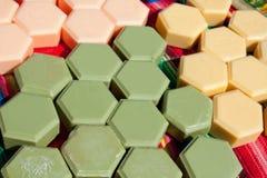 Jabón hecho en casa natural Imágenes de archivo libres de regalías
