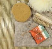 Jabón hecho a mano Fotos de archivo libres de regalías