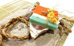Jabón hecho a mano Imagen de archivo libre de regalías