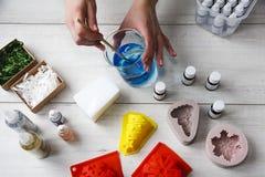 Jabón hecho a mano como regalo Fotos de archivo libres de regalías