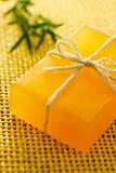 Jabón hecho a mano con romero Imagen de archivo