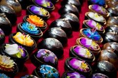 Jabón hecho a mano de la flor Imagen de archivo libre de regalías