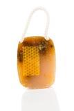 Jabón hecho a mano de la miel Fotos de archivo libres de regalías