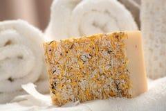 Jabón hecho a mano natural Fotografía de archivo