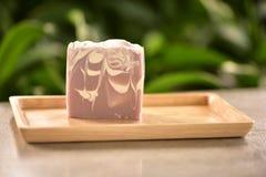 Jabón hecho a mano natural con fragancia del café fotos de archivo libres de regalías