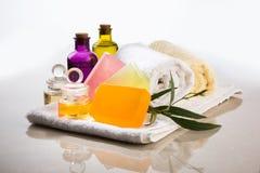 Jabón hecho a mano o jabón de Ayurvedic Fotografía de archivo libre de regalías