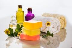 Jabón hecho a mano o jabón de Ayurvedic Fotos de archivo libres de regalías