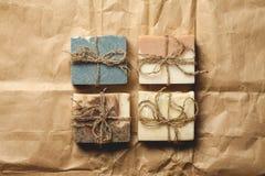 Jabón hecho a mano orgánico Imágenes de archivo libres de regalías