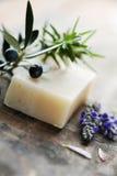 Jabón natural Imágenes de archivo libres de regalías