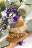 Jabón natural aromático Imágenes de archivo libres de regalías
