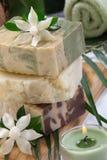 Jabón natural de Handmand Fotos de archivo libres de regalías