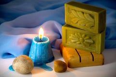 Jabón natural del laurel Fotografía de archivo libre de regalías