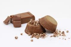 Jabón natural hecho en casa del chocolate Foto de archivo