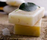 Jabón natural hecho a mano Fotografía de archivo