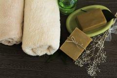 Jabón natural orgánico Imágenes de archivo libres de regalías