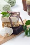 Jabón orgánico hecho a mano Imágenes de archivo libres de regalías