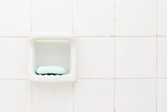 Jabón verde, cuarto de baño viejo   Fotografía de archivo libre de regalías