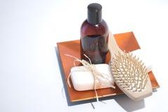 Jabón y accesorios Fotografía de archivo
