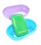 Jabón y caja Fotografía de archivo libre de regalías