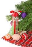 Jabón y regalos hechos a mano de la Navidad Fotos de archivo