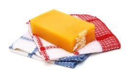 Jabón y toallas Imagen de archivo libre de regalías
