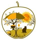 Jabłczana żniwo scena w jabłku Zdjęcie Stock