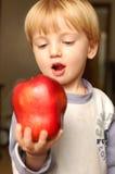 jabłczana chłopiec Zdjęcie Stock