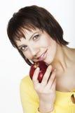 jabłczana czerwona kobieta Obraz Stock