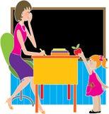 jabłczana dziecko do szkoły Zdjęcia Stock