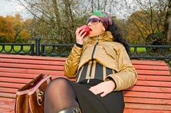 jabłczana kobieta fotografia royalty free