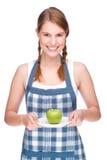 jabłczana kobieta zdjęcia royalty free