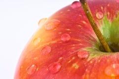 jabłczana makro- czerwień Zdjęcie Royalty Free