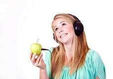 jabłczana muzyka Zdjęcia Royalty Free