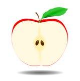Jabłczana połówka - ilustracja Zdjęcie Stock