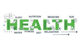 jabłczana pojęcia zdrowie miara taśmy Cienki kreskowy płaski projekta sztandar dla strony internetowej Fotografia Royalty Free